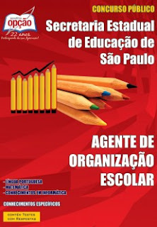 Apostila Agente de Organização Escolar SEEDSP - Secretaria da Educação de SP.