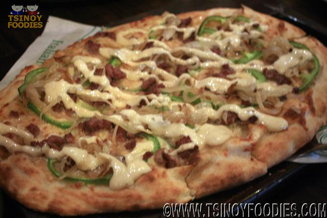 angus steak pizza