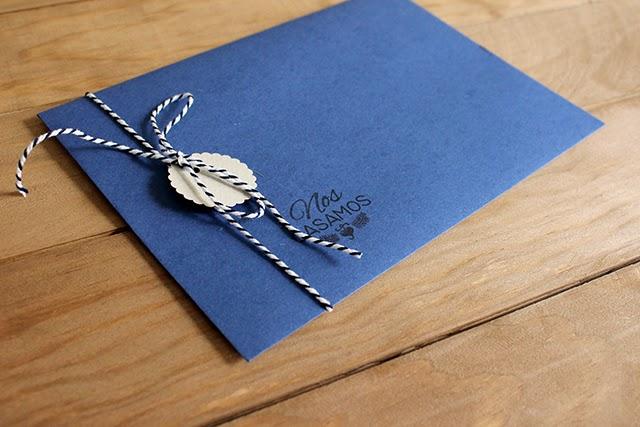 invitaciones de boda originales sobres azul marino hermanasbolenashop