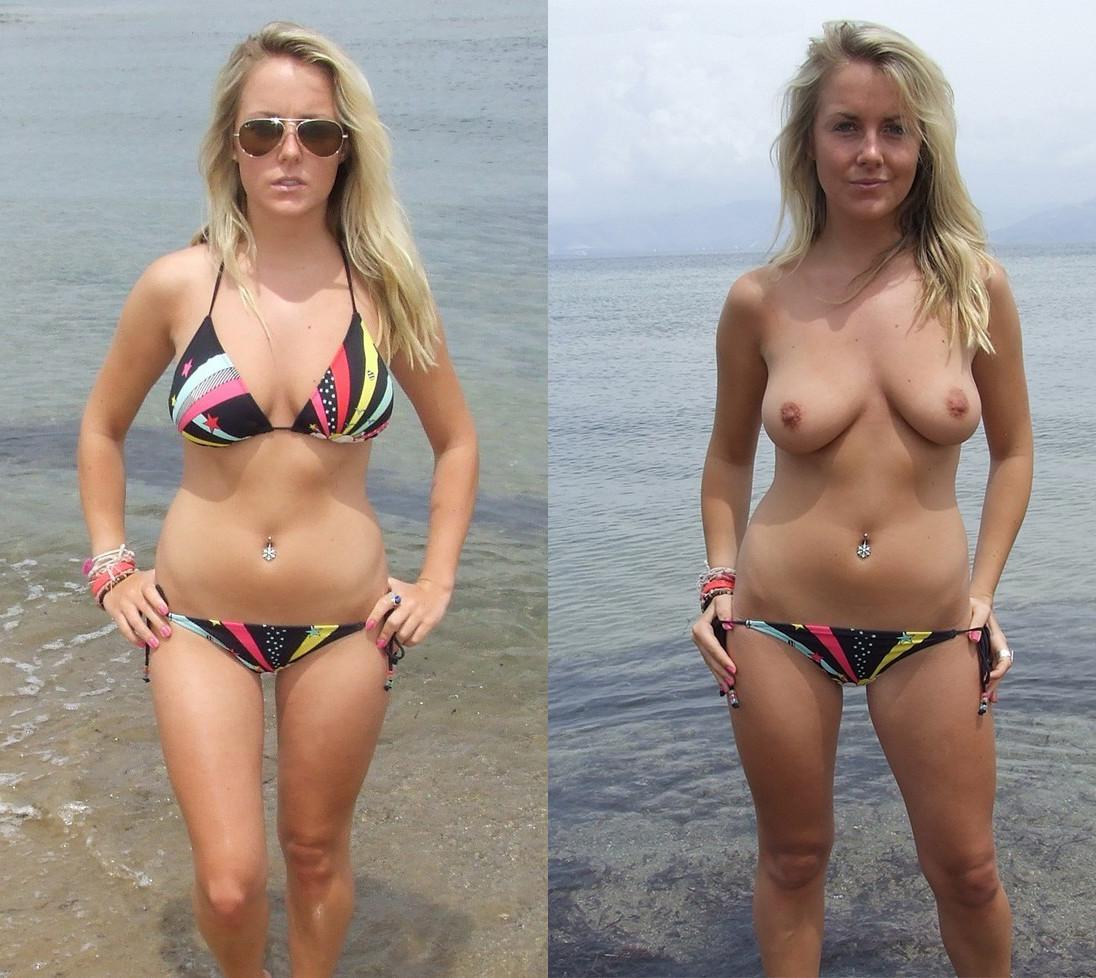 bikini undressed