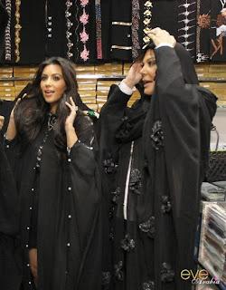 صور كيم كارداشيان بالعباية الخليجية Pictures Kim Kardashian gown Gulf