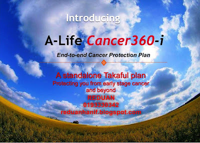 A-Life Cancer 360-i. Pelan Perlindungan Kanser Terbaik.