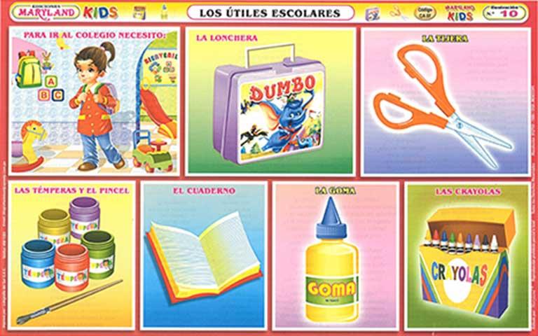 Utiles escolares en inglés dibujos - Imagui