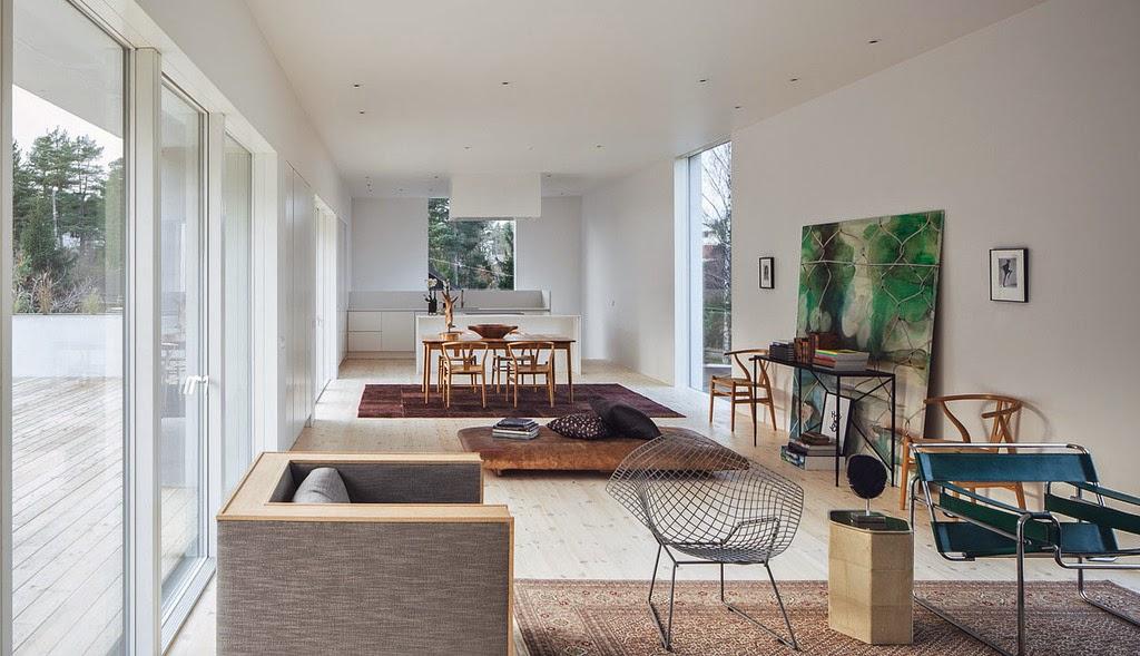 Una villa in Svezia, progettata e costruita nei pressi di Stoccolma ...