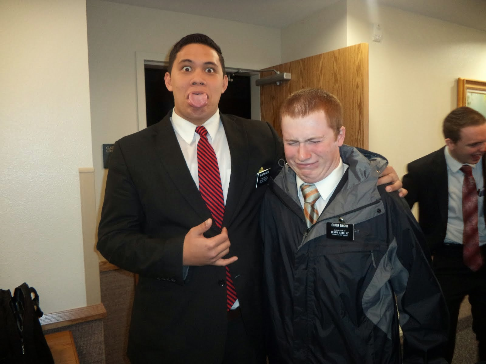 Pukana with Elder Bright
