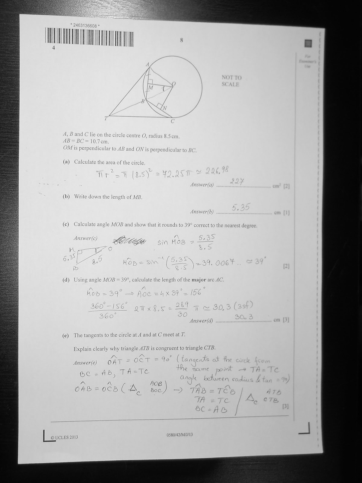 CIE IGCSE 0580 Mathematics Paper 4 (Extended), May/June 2013 ...