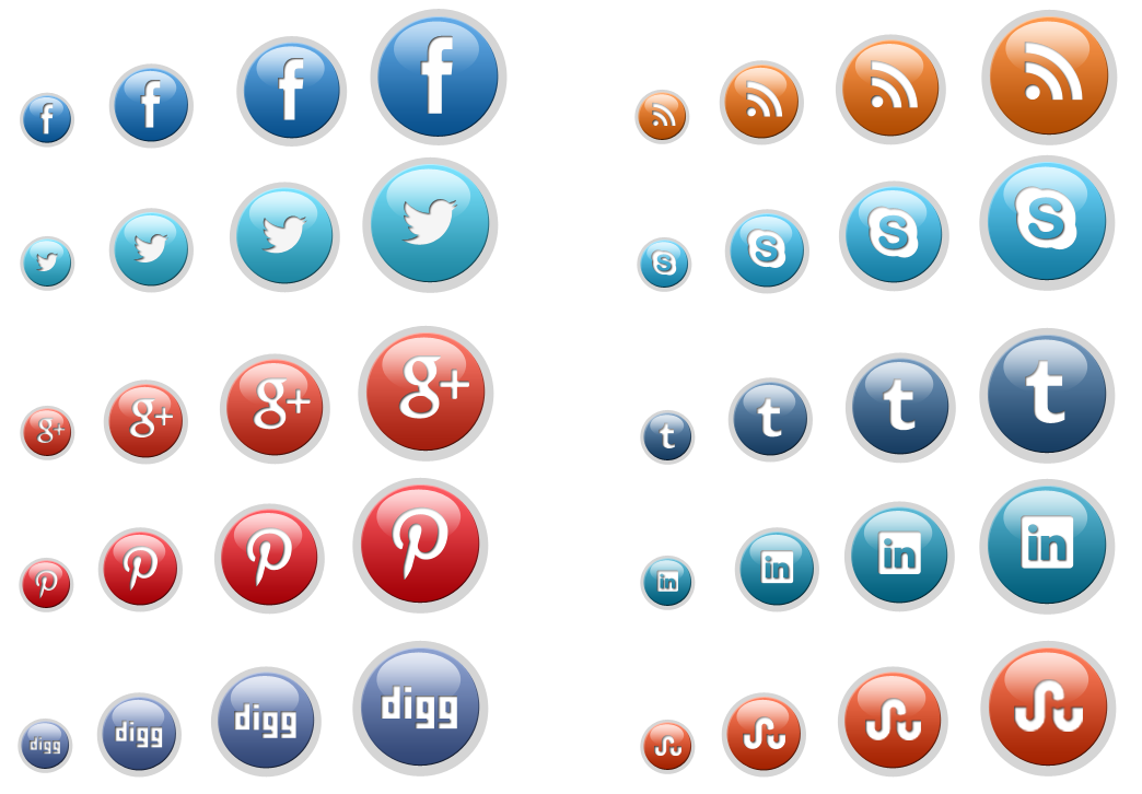 social-media-glossy-button-icon