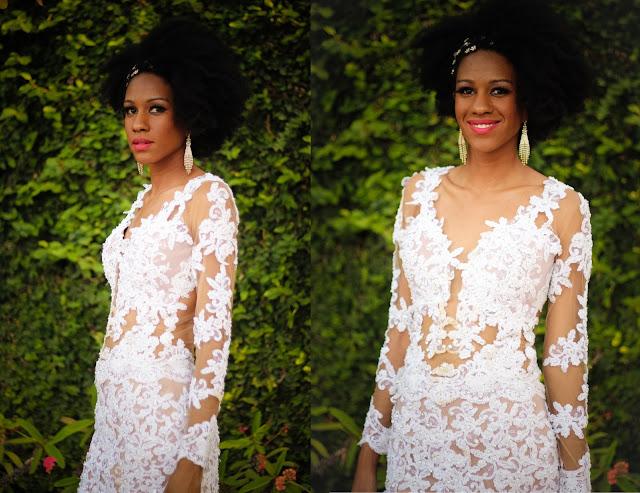 vestido transparente de noiva