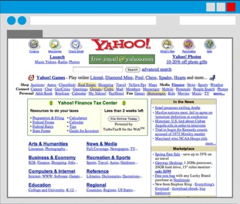 Yahoo.com Screenshot at 2002: Intelligent Computing