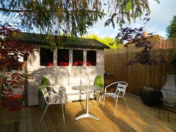 Enthused monkey crafty diy garden shed bar conversion for Garden conversion