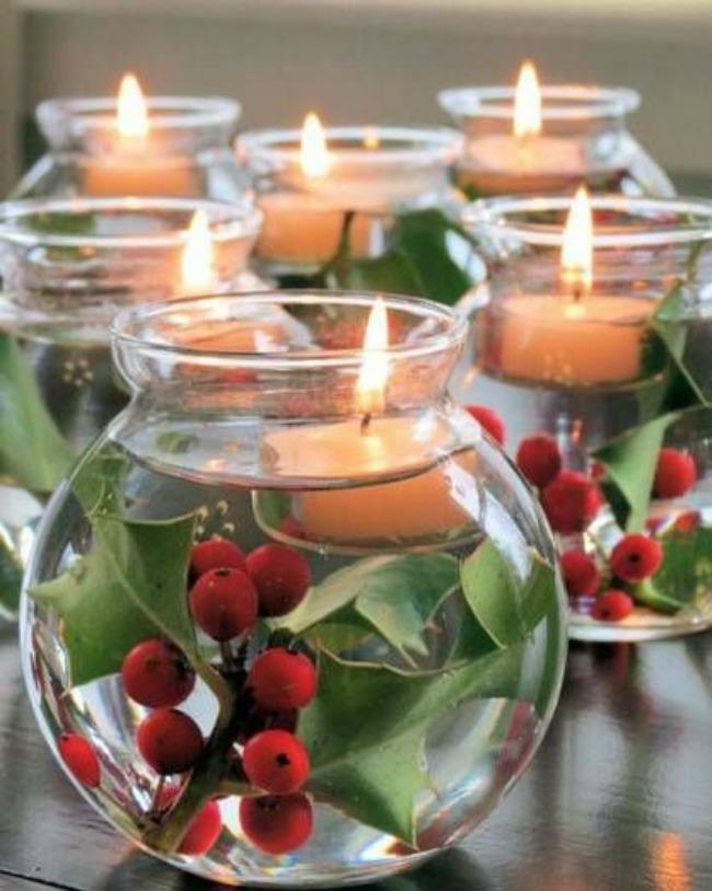 Navidad DIY: Centros de mesa