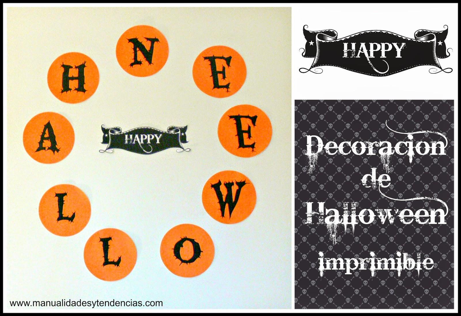 Guirnalda de Halloween imprimible gratis