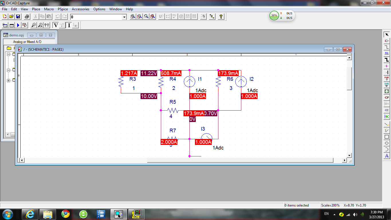 Engineering 44 Jlamyi March 2013 Capture And Simulation Of Electrical Circuits The Actual Second Set Up Following Circuit Use Voltage Sweep Setup To Obtain Current Power Curve On Load R 2