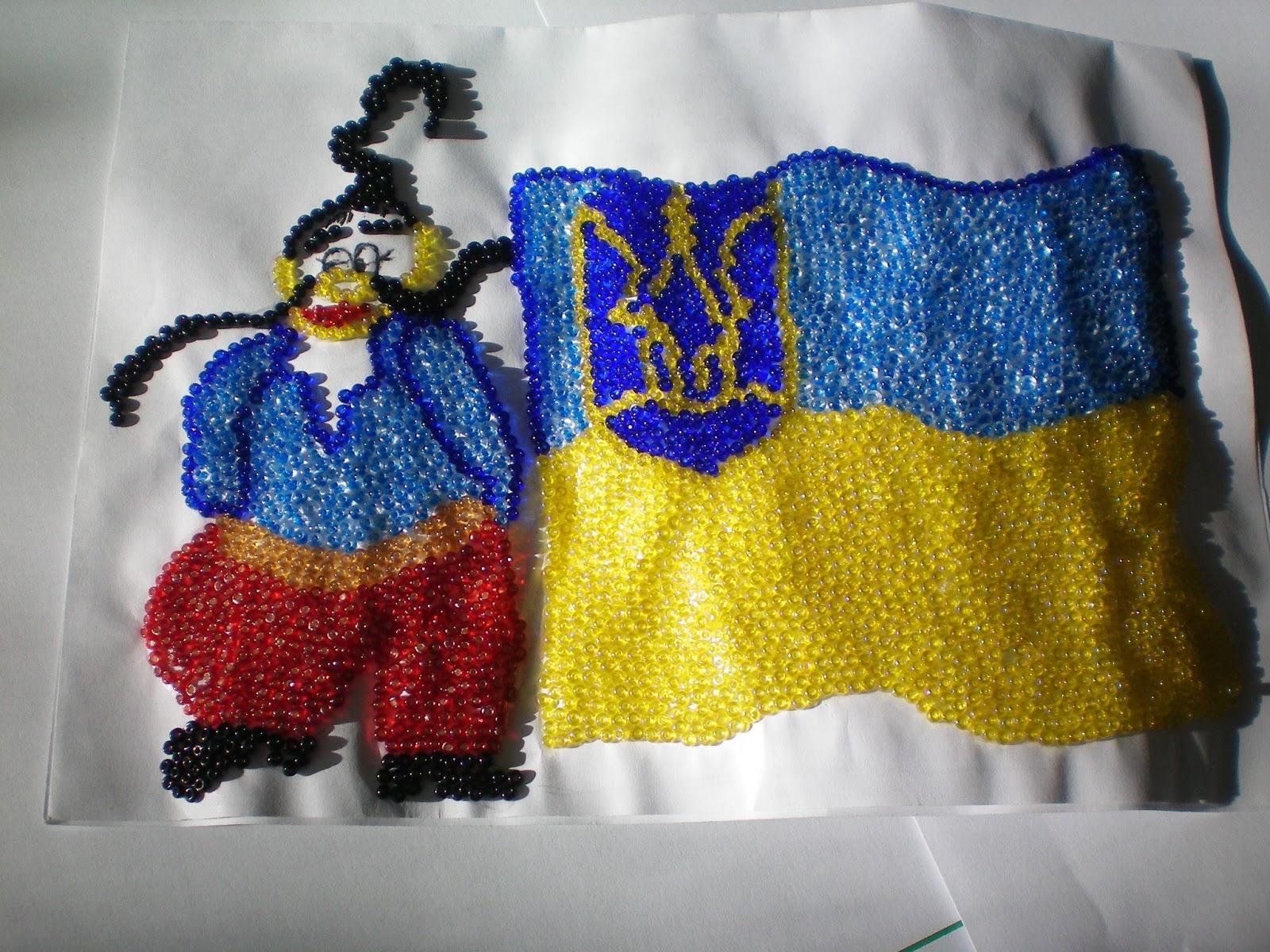 Самый большой флаг Украины из пасок создали в Днепре - Цензор.НЕТ 9317