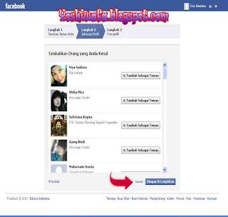 Cara membuat akun Facebook.