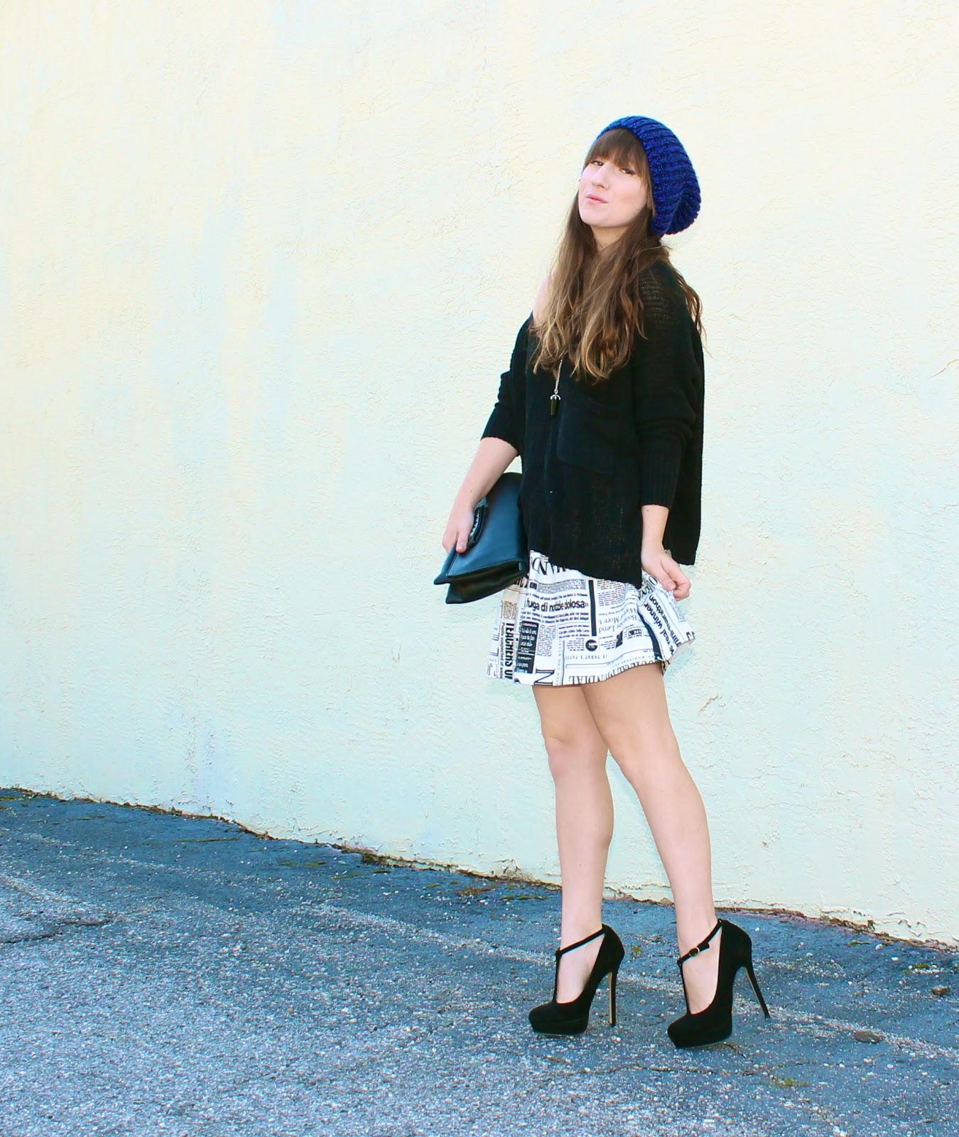 beanie and skirt