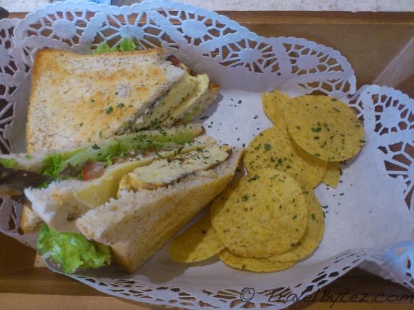Tri-color sandwich at Octa Hotel (Café) - Singapore