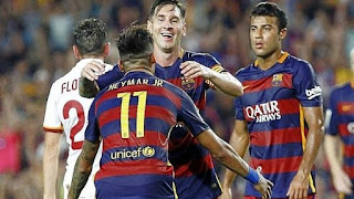 Messi volvio al Barca y volvio loco a la Roma