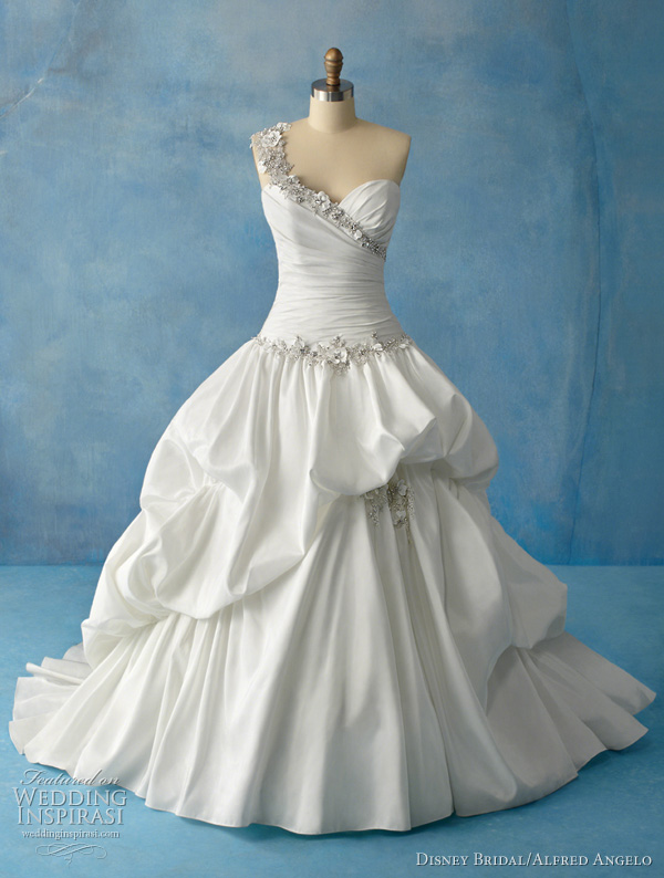 Cinderella ball gown of tulle and glitter net over taffeta is inspired by