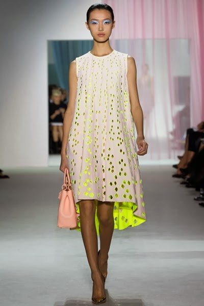 christian dior spring 2013 neon dress