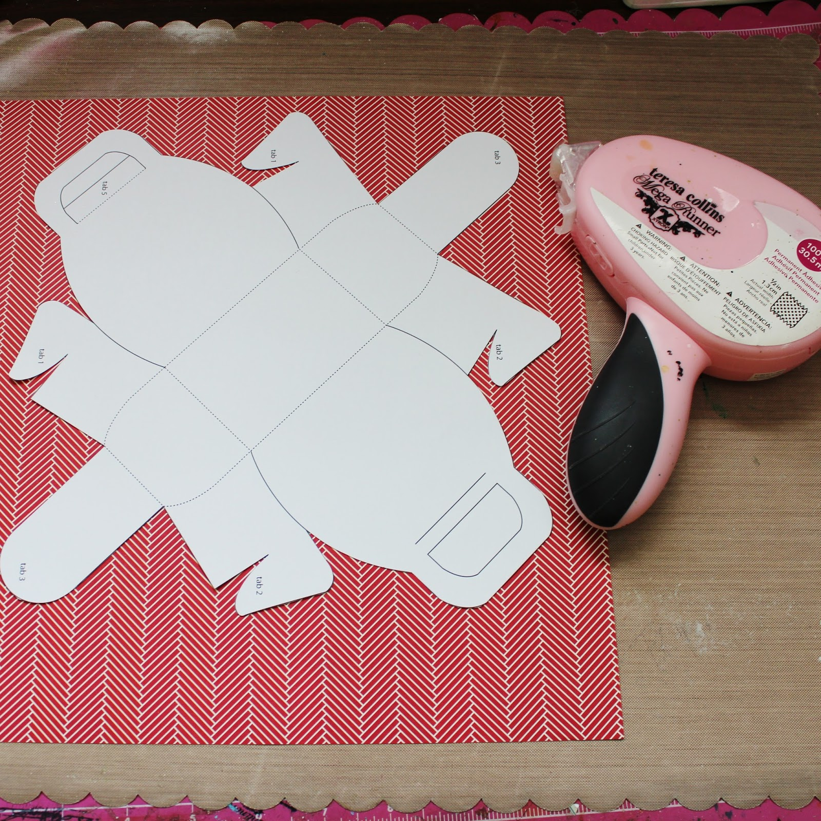 Scrapbook Flair: Pam Bray Designs: Suitcase Favor Box and Card ...