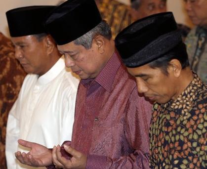 Selamat untuk pak jokowi, Terimakasih Pak SBY, Tetap semangat Pak Prabowo