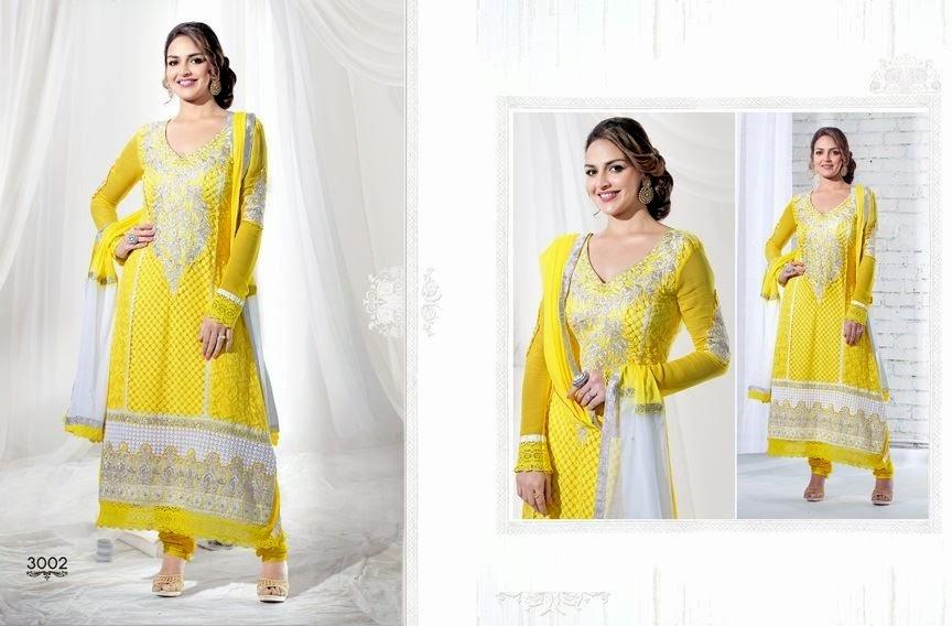 EshaDeolSalwarSuits2013 2014 wwwfashionhuntworldblogspotcom 013 - Wonderful Color Combination Esha Deol Suits