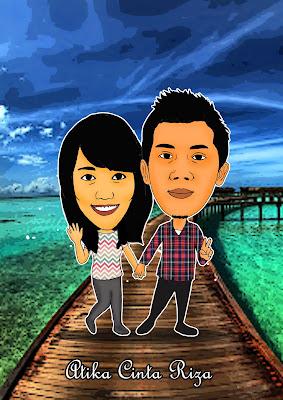 daily cartoon art illustration karikatur couple jalan