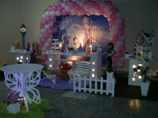 decoração provençal de festa infantil - tema Os Enrolados