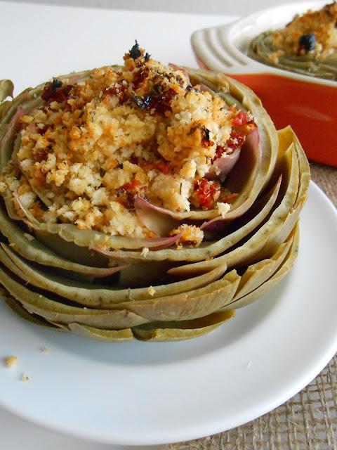 Baked & Stuffed Artichokes - Flora Foodie
