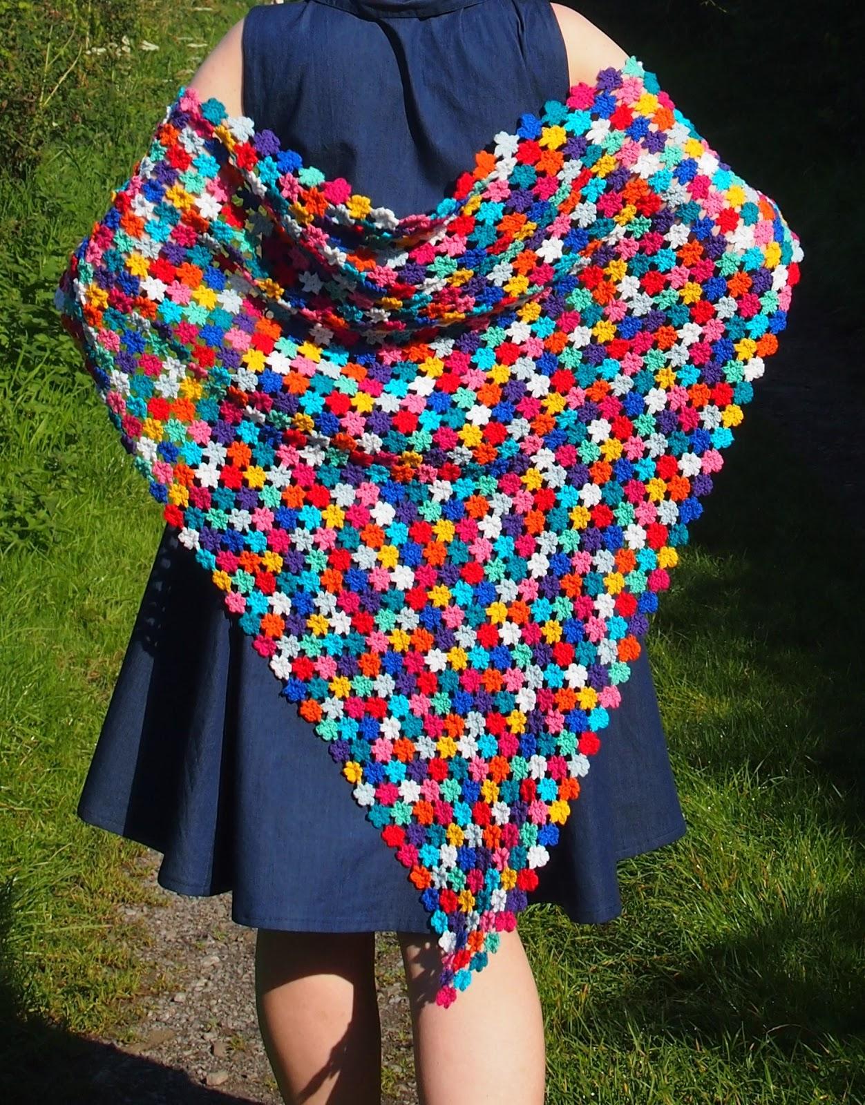 Crochet Floral Shawl Pattern : Nightingale & Dolittle: Crochet: Amazing Technicolour ...