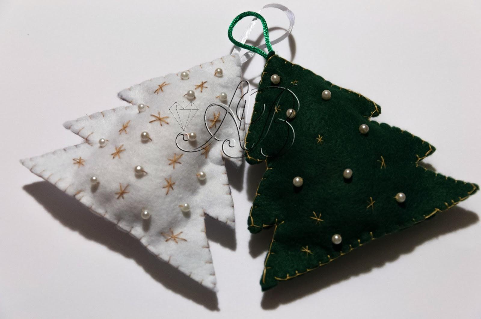 Diy tutorial albero di natale in pannolenci con perline e stelline