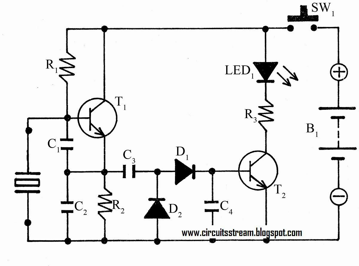 super circuit diagram  simple crystal tester circuit diagram