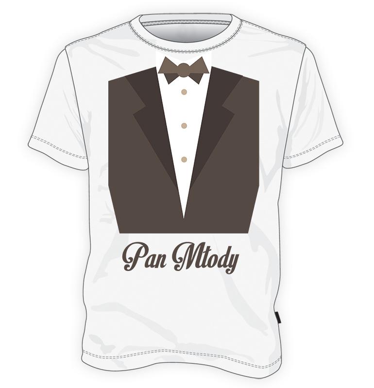 koszulka z garniturem Pan Młody