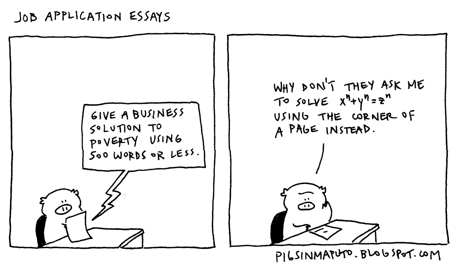 Job application essays