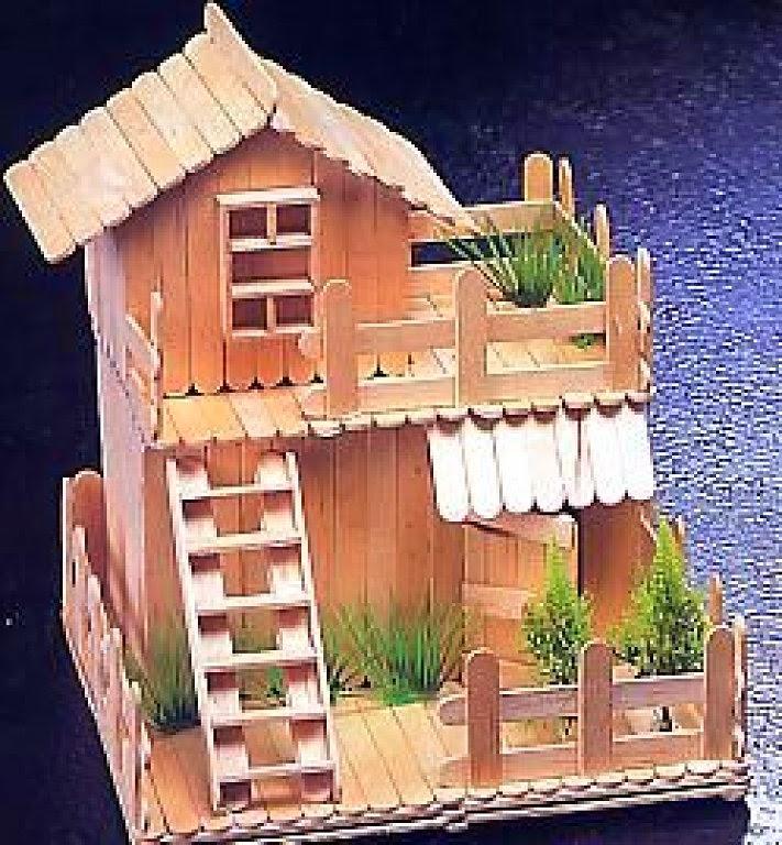 Casitas hechas con palitos de madera ben blog - Juegos de decorar la casa de barbie con piscina ...