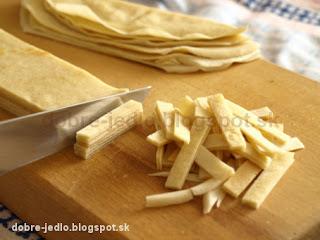 Celestínske cesnakové rezance - recepty