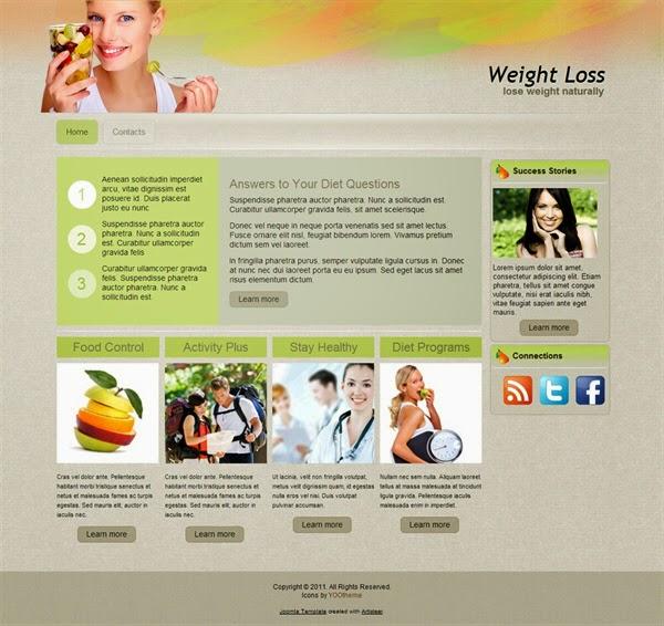Weight Loss - Free Joomla! Template