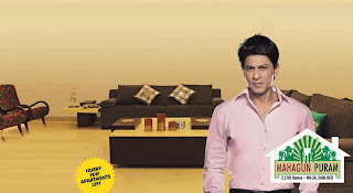 Shahrukh Khan photo shoot for Mahagun print ad