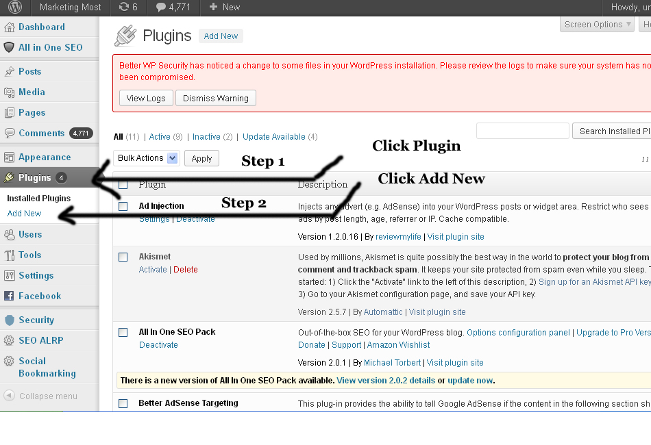 WordPress Best Easy Plugins Installation List For SEO And Make Professional Wesbite After Blogger 2