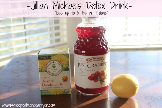 keep calm and carry on jillian michaels detox drink. Black Bedroom Furniture Sets. Home Design Ideas