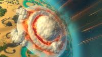 Planetary Annihilation: kosmiczny RTS - asteroida uderza w planetę.
