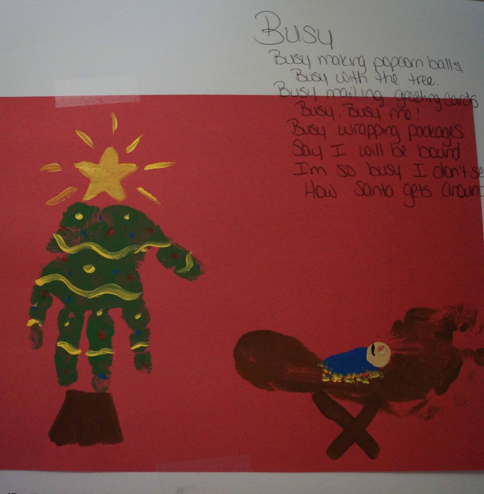 christmas tree handprint poem - photo #5