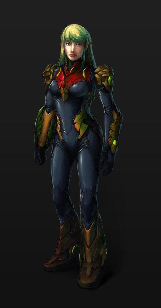 Samus Aran - Zero Suit por Kuren