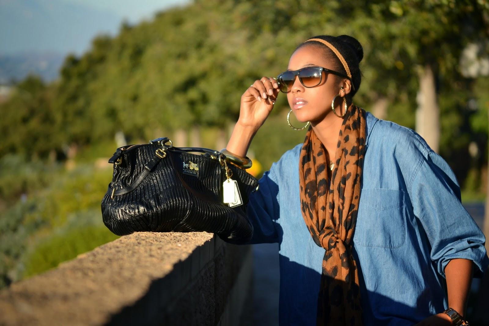 fashion style blogger, denim button down, denim on denim