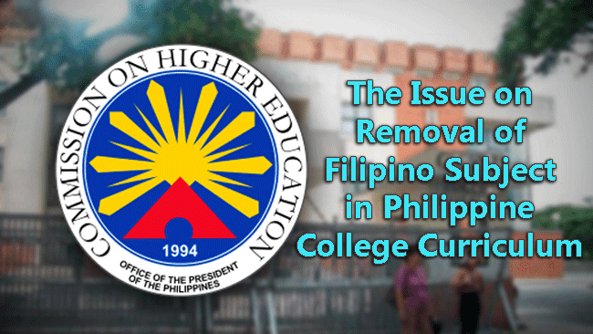 The Issue on Removal of Filipino Subject in Philippine College Curriculum