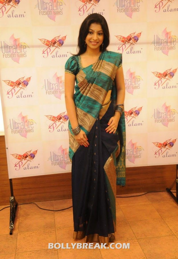 Anuja iyer looks superhot in this traditional silk saree - Anuja Iyer @ Sri Palam Silks