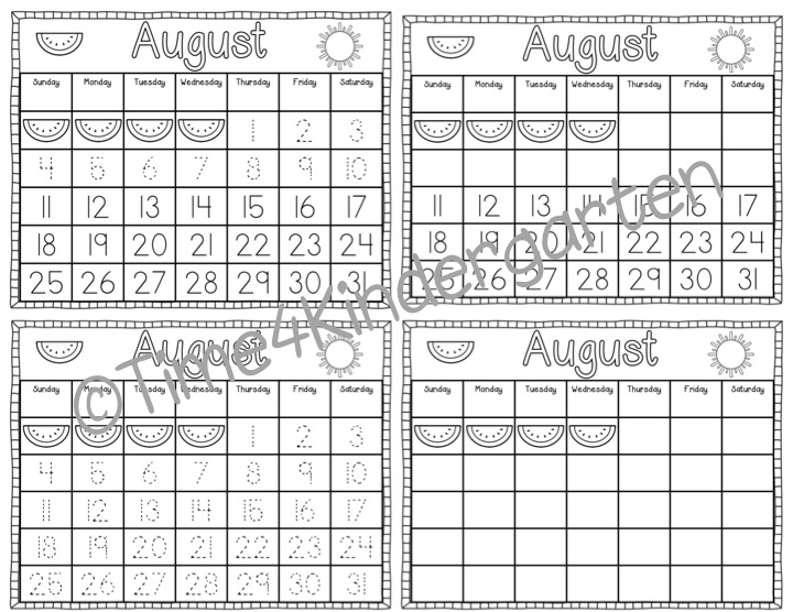 Calendar Math Kindergarten Activities : Time kindergarten calendar math