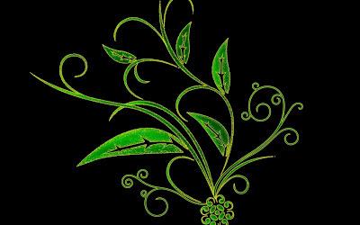 Green wallpaper 3d