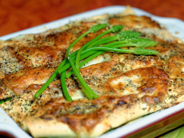 Lasagne de légumes verts